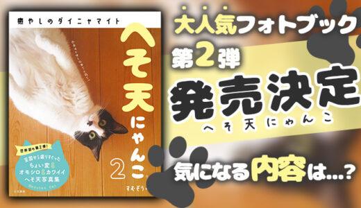 猫好きさん歓喜!人気フォトブック『へそ天にゃんこ』の第2弾が発売
